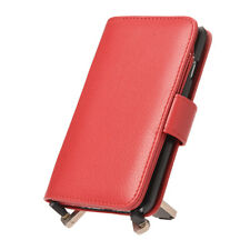 New Red 7 Card Holder Flip Wallet Leather Case Cover For Apple iPhone 6 6S