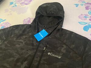 Size XL Men Columbia Flash Forward Printed Camo Windbreaker Jacket