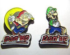 SUPER MARIO & LUIGI ORIGINAL 1990s PIN BADGES! DAN'UP, NINTENDO CONSOLE SNES!