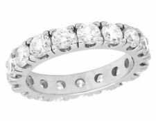 2.00ct Diamond Eternity Engagement Ring 14k White Gold