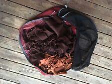 Elkhide scraps leather dark brown deerhide elk deer thick scrap bag crafts craft