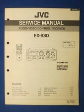 JVC RX-8SD Receiver Service  Manual Factory Original The Real Thing