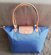 #### Original Longchamp Le Pliage Nylon Shopper L in navy NEU ####