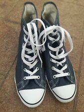 CONVERSE Chuck Taylor All Star Hi-Ness Navy Blue Wedge Sneakers Womens Size 10