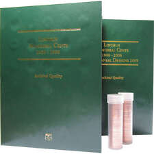1959-2008 Lincoln Memorial Cent 105 Coin Gift Set Coin BU Penny 1c with Folders