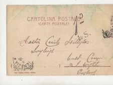 1d ISF Charge Mark Venezia -  England circa 1905 434b