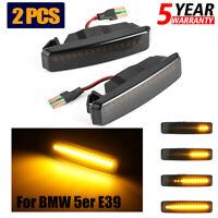 Pair Dynamic Flowing LED Side Marker Indicator Turn Light For BMW E39 5er 95-03