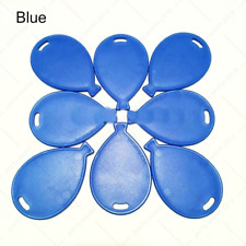 4-50 PLASTIC BLUE Colour Balloon Shape Weight For Helium Latex Foil Baloons UK