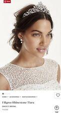 David's Bridal Filigree Rhinestone Tiara, Crystal, T9088 ($129)