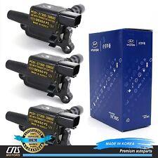 GENUINE Ignition Coil 3pcs Fits 2003-2006 Kia Sorento 3.5L OEM 27300-39800