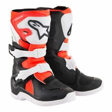 Alpinestars Tech 3s Kids Childrens Off Road Motorcycle MX Boots - Black/Red
