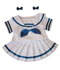 "Sailor Girl outfit with earbows teddy clothes fits 15"" Build a Bear"
