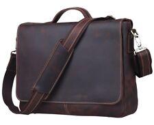 """TIDING Men's Real Leather 13"""" Laptop Business Briefcase Shoulder Messenger Bag"""
