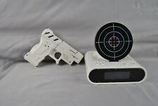 Novelty gun target alarm clock