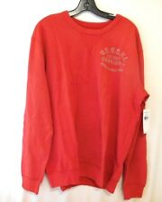Ralph Lauren Men Large L French Terry FADED RED Sweatshirt New
