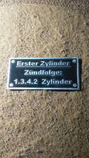 Typenschild Schild Zündfolge BMW Adler Benz Stoewer 1.3.4.2 1342 Erster Zyl. S55