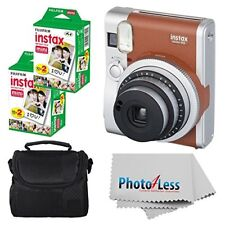 Fujifilm Instax Mini 90 neo clásica cámara instantánea + 40 Películas + Estuche + Paño!