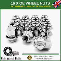 16 x Alloy Wheel Nuts M12x1.5 For Ford Focus ST RS MK1 MK2 MK3 MK4