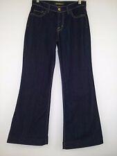 "David Kahn Flare Jeans Dark Denim Wash Wide Leg Women's Size Tag 26 (29"" x 28"")"