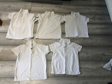 Unisex White 5-6 Years Polo Tops