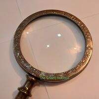 Antique Brass Magnifying Glass Vintage Magnifier Maritime Collectible