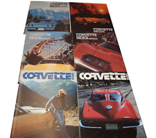 CORVETTE NEWS 1977 YEAR 6 ISSUES FULL YEAR 67 L-88 WITH 11 MILES NEAR MINT