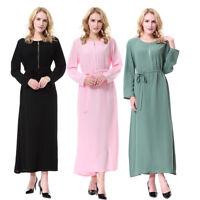 Women Muslim Islamic Abaya Maxi Dress Cocktail Vintage Jilbab Kaftan Robe Gown