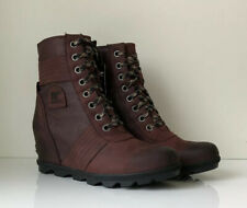 NEW! SOREL Lexie Wedge Women's 12 Cattail Leather Canvas Waterproof Lace Up Boot