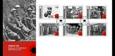 Gibraltar 2014 begin van 1e Wereldoorlog  WWI   FDC  postfris/MNH