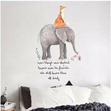 Elephant Fox Animal DIY Wall Stickers Nursery Kids Room Removable Decor Mural Uk