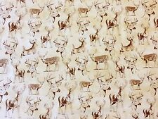 NC09 Deer Forest Nature Woods Hunting Buck Hunt Antler Game Cotton Quilt Fabric