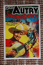 Singing Cowboy Lobby Card Movie Poster Western Gene Autry