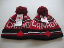 2018 PyeongChang Winter Olympic Canada Hat Tuque Toque x 2 - misaligned letters