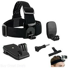 Camera Mount Clamps Head Strap Hat Backpack Clips Bundle for GoPro Hero 4