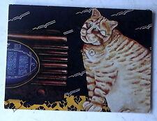 Carte postale Suzanne Tantlinger Chat melomane peinture naive    postcard