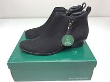 Paul Green Travis Booties Black Nubuck Hydro Women Size 7.5 (AT 5) Boots