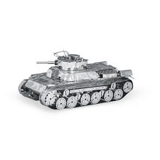 Chi-Ha Tank Panzer 3D-Metall-Bausatz Silver-Edition Metal Earth 1202