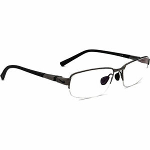 Nike Eyeglasses 6051 066 Titanium Gunmetal/Matte Black Half Rim Frame 52[]15 145