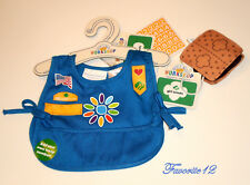 Build a Bear Girl Scout Daisy Uniform Tunic Top with Smores Treat Teddy Size Set