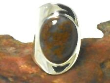 Adjustable  Orbicular  JASPER  Sterling  Silver  925  RING  -  Gift Boxed