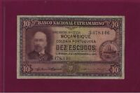 Portugal PORTUGUESE Mozambique 10 Escudos 1945 P-95 F+