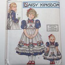 Simplicity 9424 Girls Dress Pinafore Daisy Kingdom Sewing Pattern Sz 3-6 Uncut