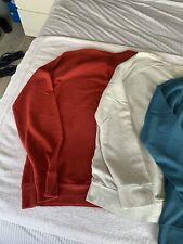 3 X Levi LVC Raglan Loop Back V Notch Vintage Sweatshirt XL