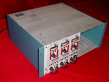 Trig-tek 4113 Cabinet w/ 3- 203TF Charge Amplifier 115 VAC  Modules