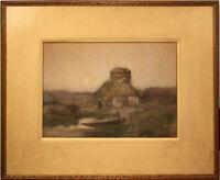 ANTIQUE LANDSCAPE WATERCOLOR BY WALTER HARTSON