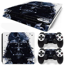 PS4 Slim Console and DualShock 4 Controller Skin Set - Darth Vader Pieces