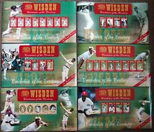 WISDEN CRICKETERS OF THE CENTURY 6 MINT STAMP SHEETS POSTAL TRIBUTE