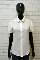 GIANFRANCO FERRE' Camicia Donna Taglia L Maglia Bianco Shirt Woman Blusa Logo