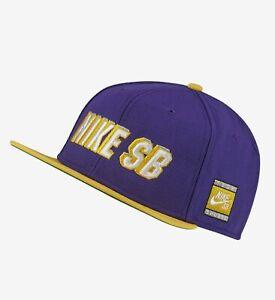 Nike SB x NBA Pro Snapback Lakers Hat Purple Cap BV0488-504