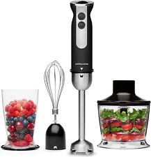 Andrew James AJ001390 1kW Stainless Steel Hand Blender with Accessories - Black